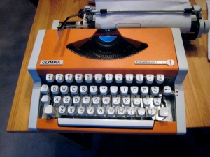 Typewriter with Interrobang symbol (found on Google images)