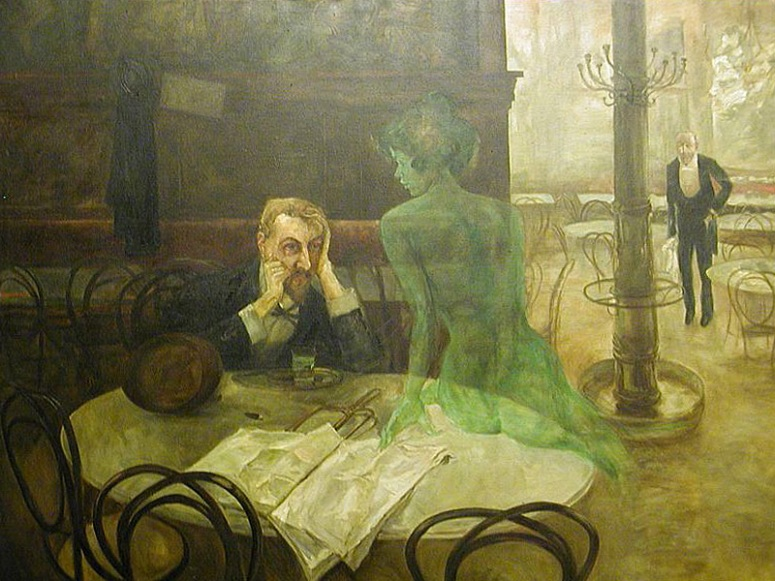 The Absinthe Drinker by  Victor Oliva