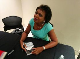 Anita Hill signing my book! She was so friendly.