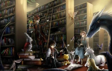 Photo Credit: http://www.fanpop.com/clubs/fantasy/images/15760653/title/fantasy-books-fanart. Image created by: breebree446