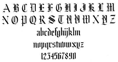 Gothic Letters Image Found On Google Images