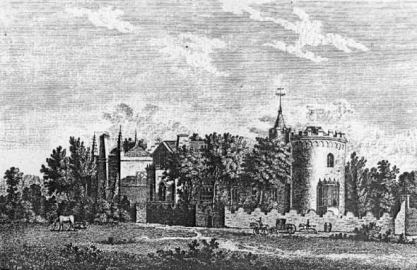 Strawberry Hill built by Gothic writer Horace Walpole. Image found on Wikipedia.