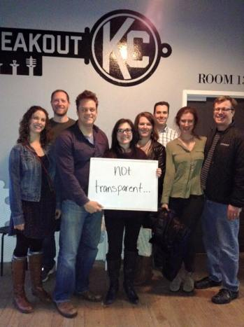 Our Breakout KC photo after we failed to solve the mystery. There's always next time!