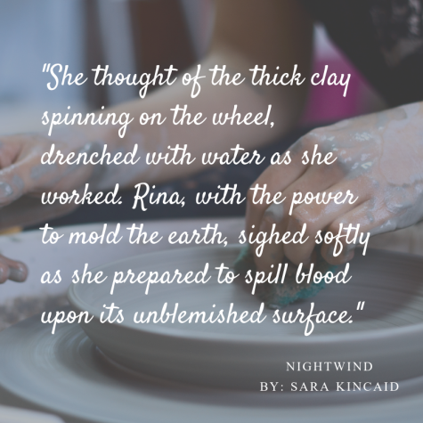She thought of the thick clay spinning on the wheel, drenched with water as she worked. Rina, with the power to mold the earth, sighed softly as she prepared to spill blood upon its unblemished surface.