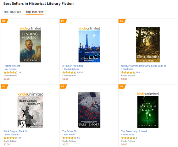 literary fiction free best sellers list 5.24