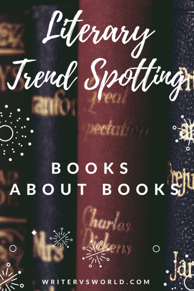 Literary trend spotting books about books graphic